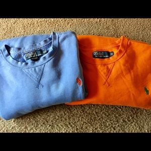 2 Polo sweatshirts lightweight Size 2XL & XL